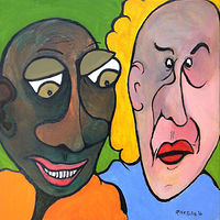 Acrylic painting Mike & Maude by Rick Gillis