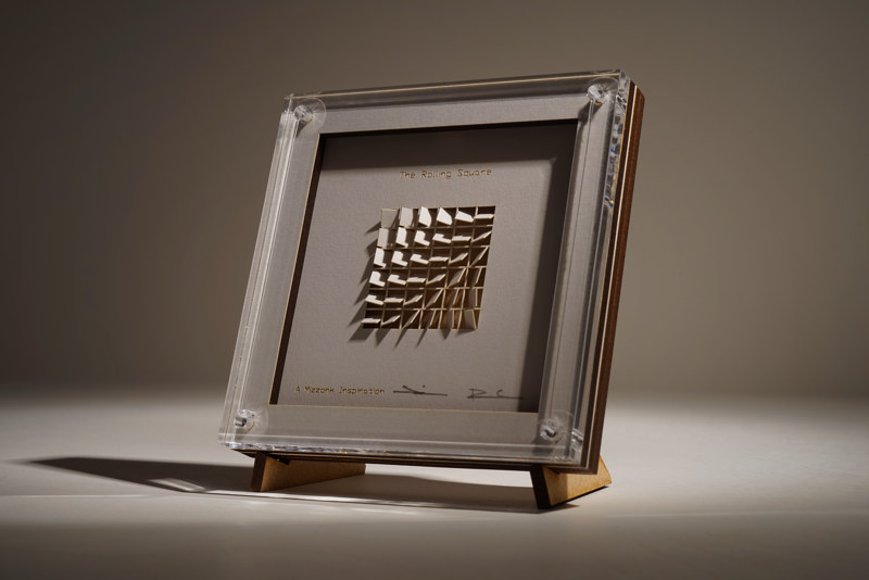 Acrylic painting The Rolling Square, small  by Wan-yi Lin
