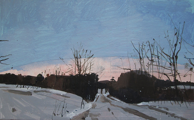 Acrylic painting Glow, February 18 by Harry Stooshinoff