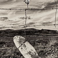 Un-named Descanso with Suspended Stone, Rt 60, Magdalena, NM 2015 by Jim Holbrook