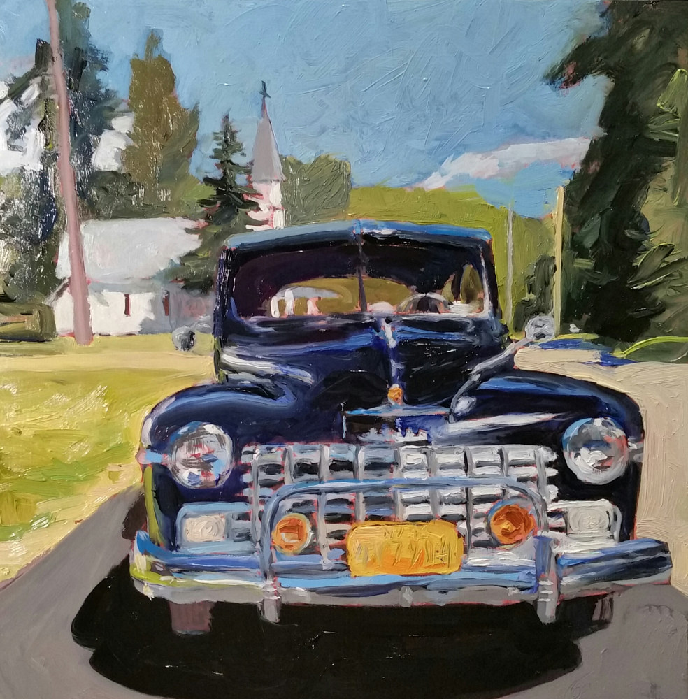Oil painting Summer of 48 by Michael Gaudreau