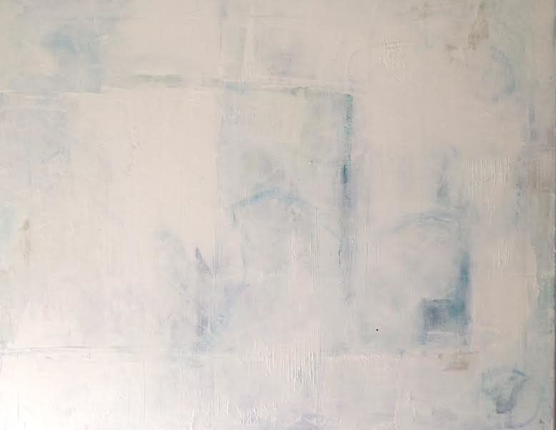 Acrylic painting Covered in White by Sarah Trundle