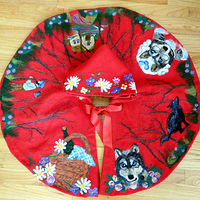 Little Red Riding Hood toddler Cape by Valerie Johnson