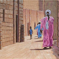 Walking Through Tradition - Timbuktu, Mali by Cecilia Lea