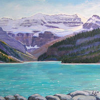 Commission Lake Louise  by Cecilia Lea