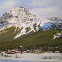 Commission of Mount Stephen, Yoho National Park by Cecilia Lea