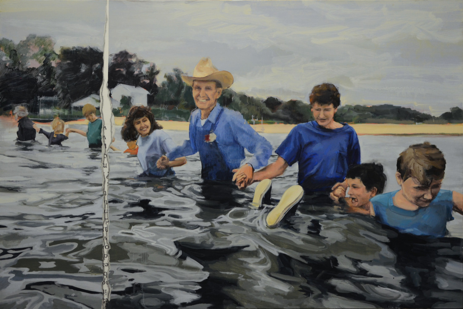 Oil painting Toe Test by Serena Stevens