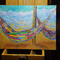 Acrylic painting Lazy Days in Cozumel. Mexico by Dianne  Cuzner