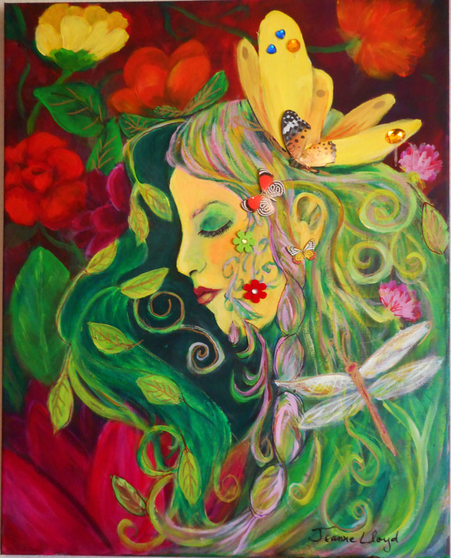 Flower Goddess by Jeanne Lloyd