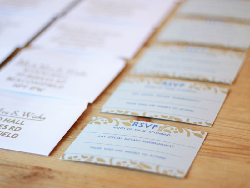 Bespoke RSVP design to match invitations by ROSE WILLIAMS