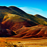 Painted Hills by Fence by William Kent
