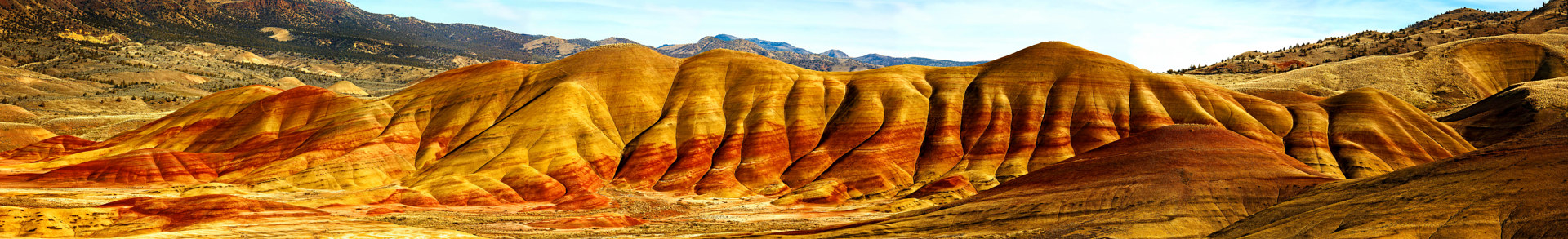 Painted Hills Panorama by William Kent
