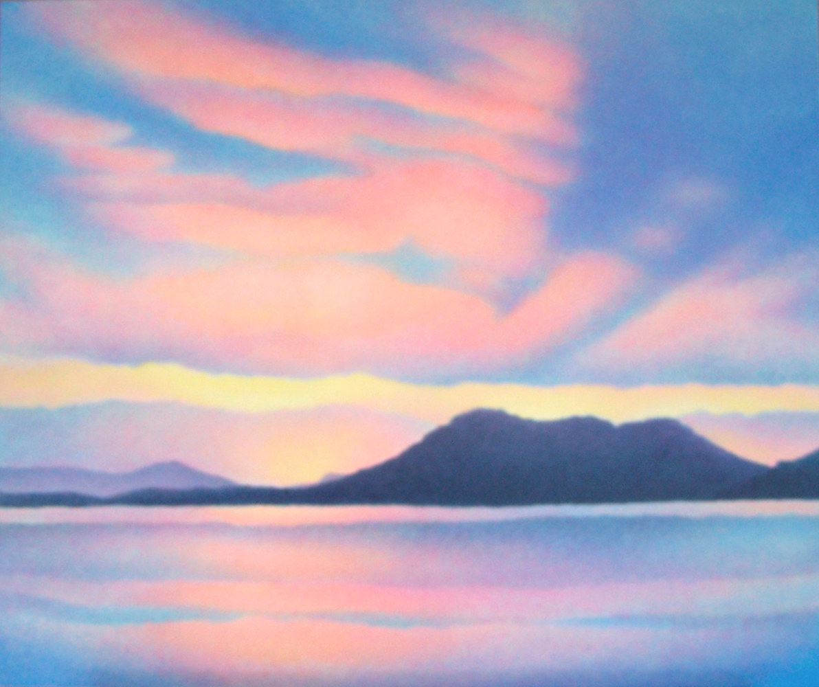 Acrylic painting Summer Twilight  by Anne Popperwell