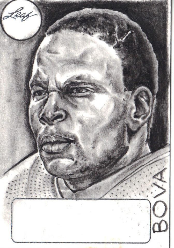 Drawing Football Player by Vincent Bova