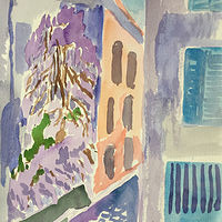 Watercolor Wisteria Tree in Near Nefili by Michael Shyka