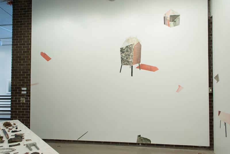 Print Dwellings (installation view: left side) by Morgan Wedderspoon