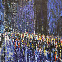 Acrylic painting Urban Rhapsody #18 by David Tycho