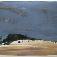 Acrylic painting March Thaw, Lost Dog Hill by Harry Stooshinoff
