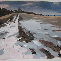 Acrylic painting March Thaw by Harry Stooshinoff