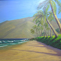Oil painting Memories of Maui by Cecilia Lea