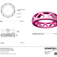 Geometric ring- design drawings by John Greg Ball