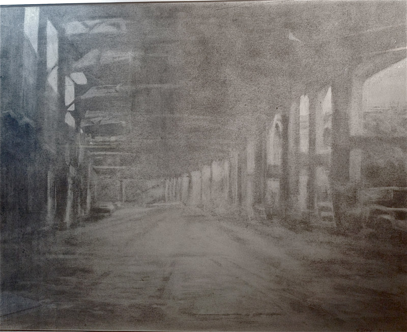Drawing Water Street by Scott Ivey