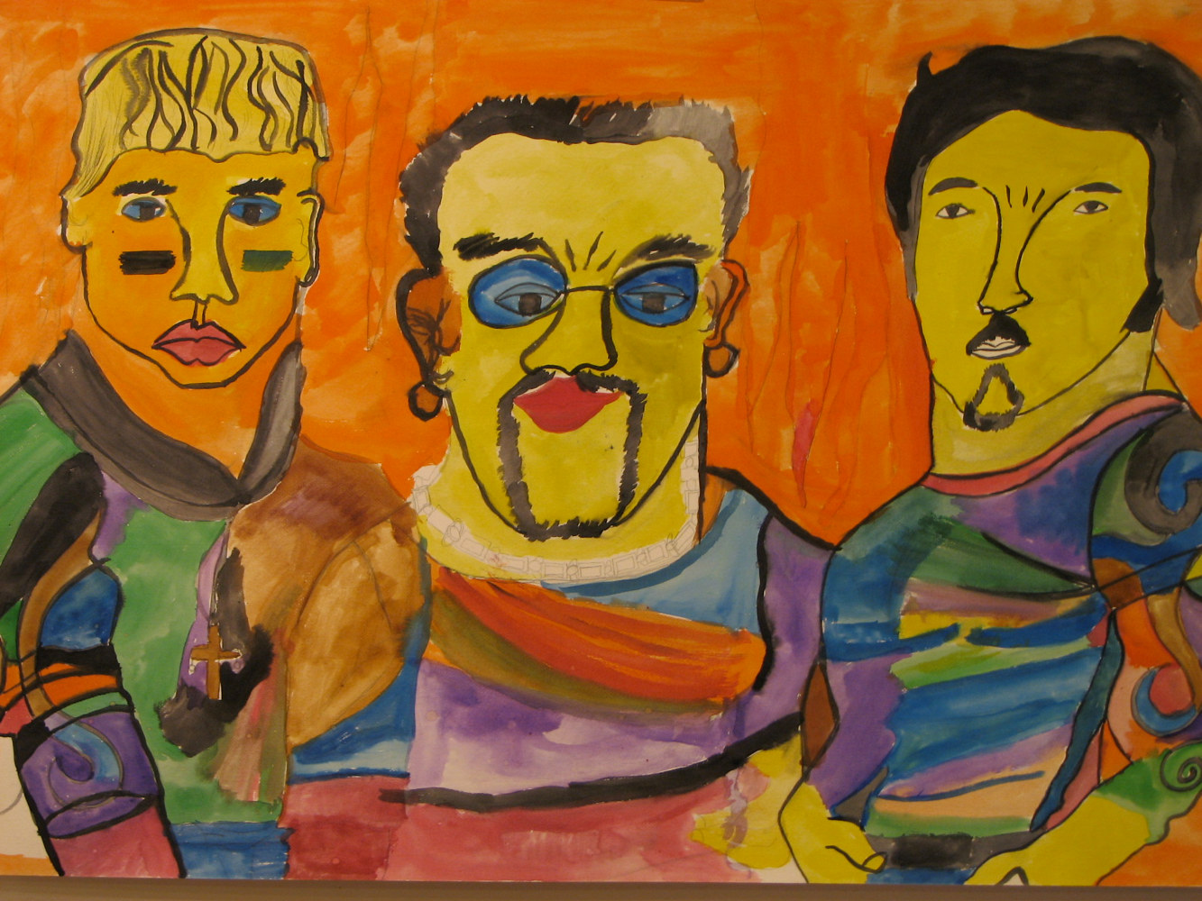 Watercolor THREE PALS by Brian Rusconi