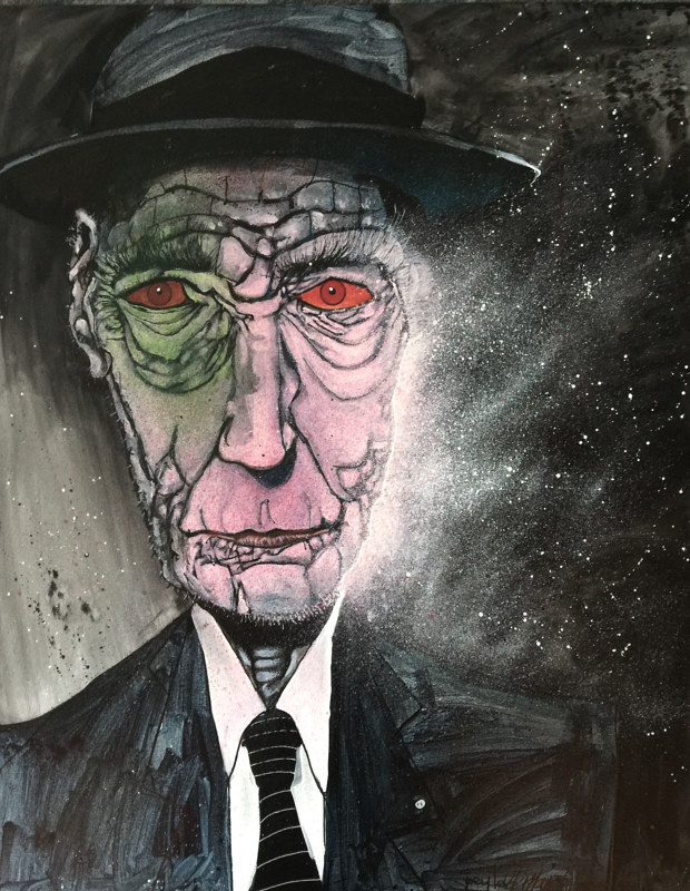 Mixed-media artwork burroughs by Joey Feldman