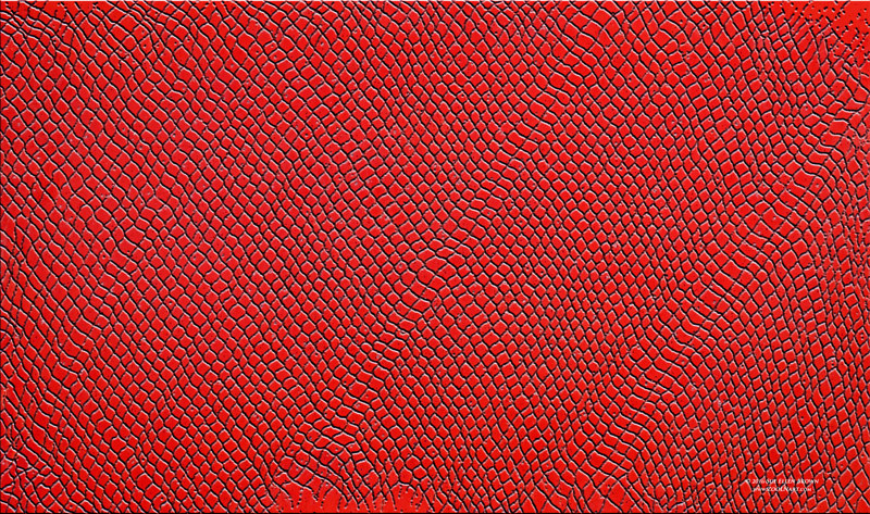 Drawing Dragonskin in Scarlet Red  by Sue Ellen Brown