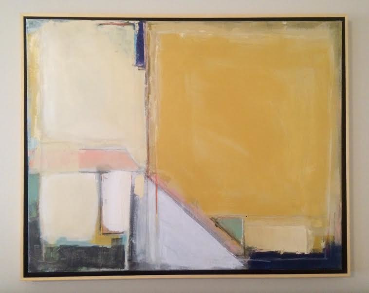 Acrylic painting Abstract with Yellow I by Sarah Trundle