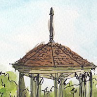 Drawing Gazebo, Parc Mount Royal by Graham Hall