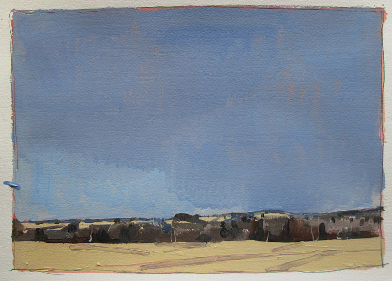 Acrylic painting 10 Saved Acres, From Afar by Harry Stooshinoff