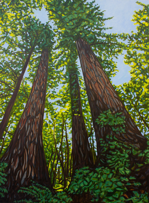 Oil painting Mighty Giants by Crystal Dipietro