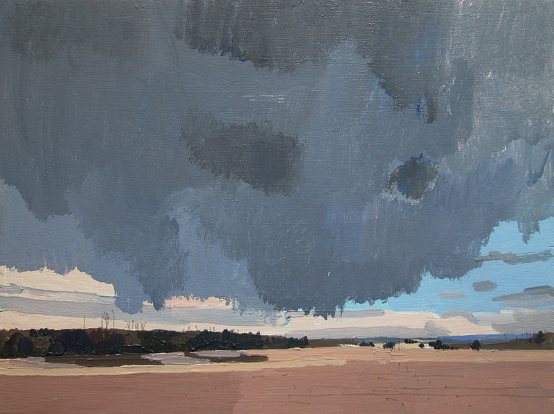 Acrylic painting Big Rain Moving In by Harry Stooshinoff