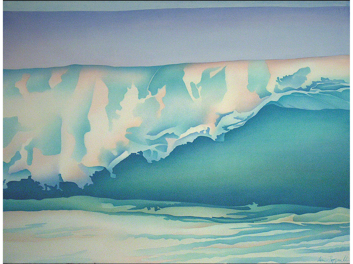 Watercolor Wave's Edge by Anne Popperwell