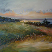 Oil painting Evening Sunset by Betty Ann  Medeiros