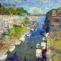 Print Corfu Canal by linda richardi
