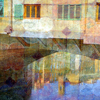 Print Ponte Vecchio Reflection by linda richardi