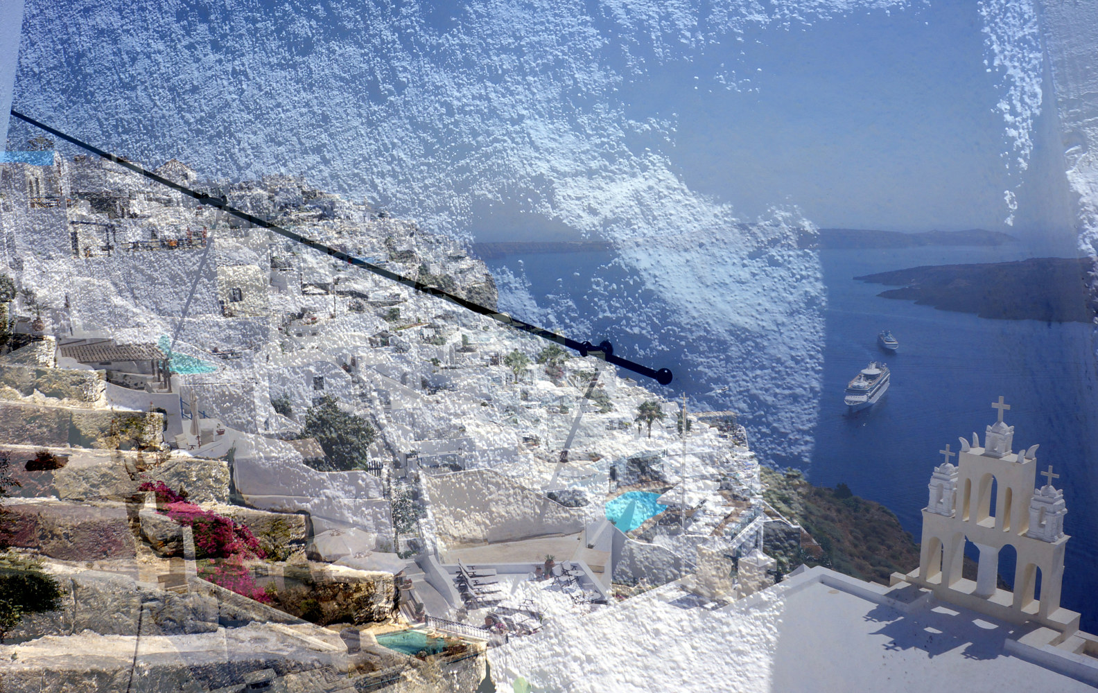 Print Santorini Steps by Linda Richardi