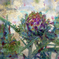 Print Thistle Bloom by linda richardi