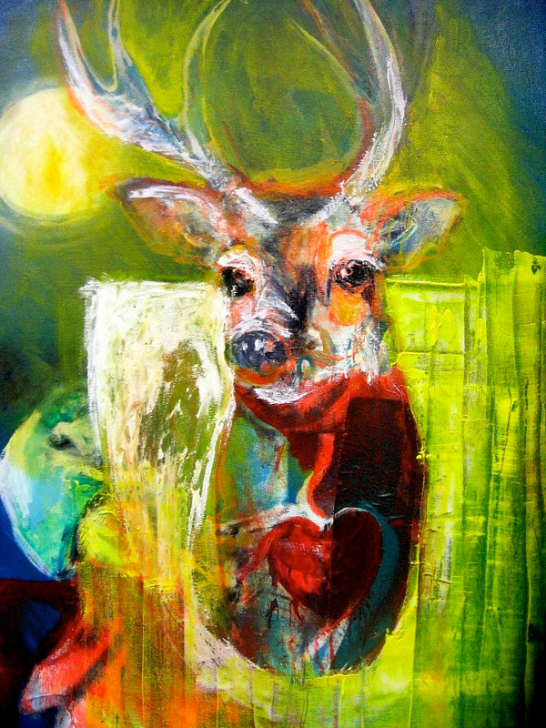 Acrylic painting Stag by Darcy Martel