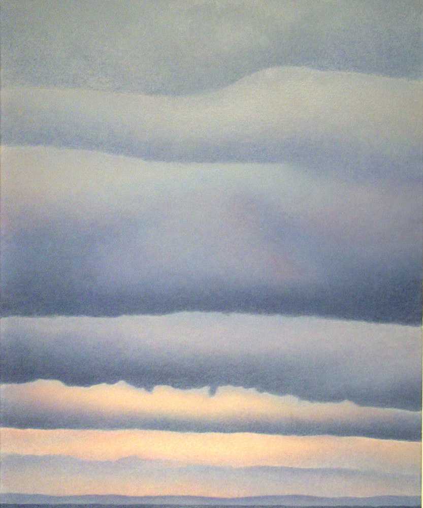 Acrylic painting Winter Sky by Anne Popperwell