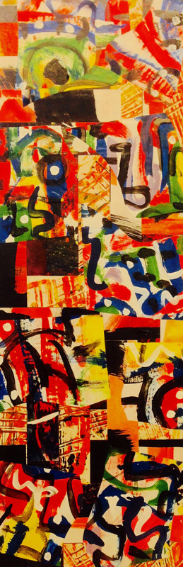 04042015  30  x 90cm by Bill Campbell