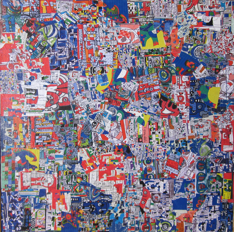 25092012. 100 x 100 cm by Bill Campbell