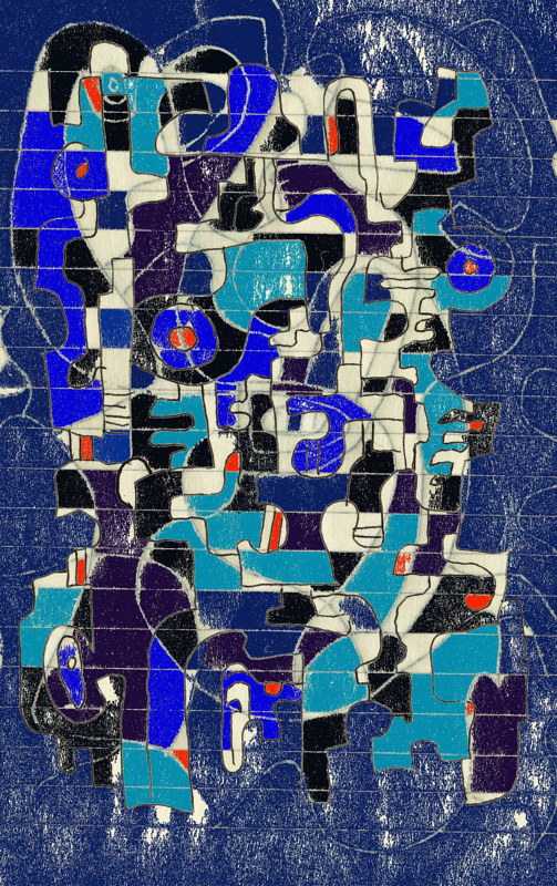 Watercolor Blue blue 17082007 by Bill Campbell