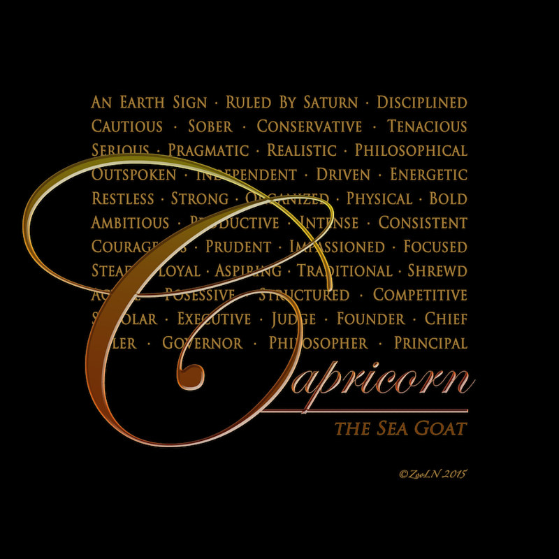Print Capricorn by Sue Ellen Brown