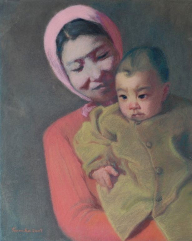 Photography Mother and Child 1946 by Kumiko Buller