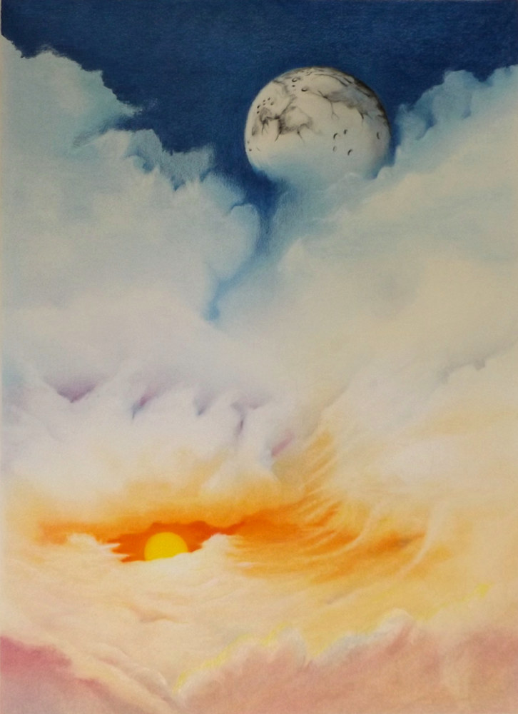 Drawing Moonrise by David Neace