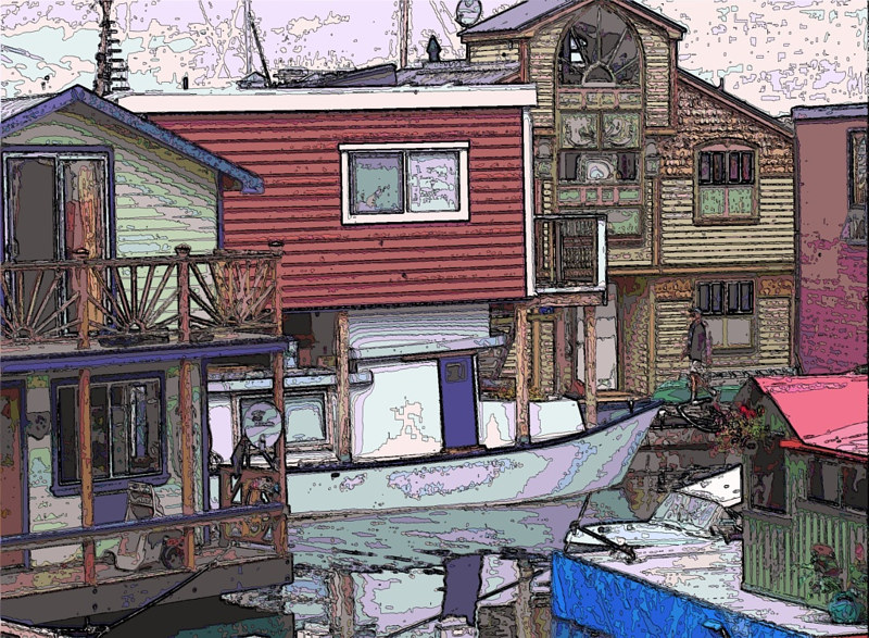 Boathouses victoria by Bill Campbell