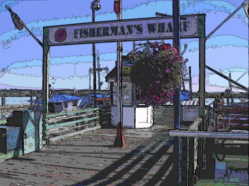 steveston wharf contour by Bill Campbell